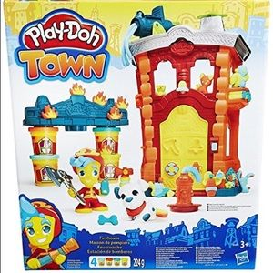 Firehouse play-doh town